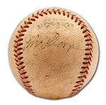 C. 1951 JIM THORPE SINGLE SIGNED OFFICIAL PCL BASEBALL