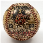 GEORGE SOSNAK 1960 PITTSBURGH PIRATES WORLD SERIES CHAMPIONS FOLK ART BASEBALL HONORING ELROY FACE (1 OF 1)