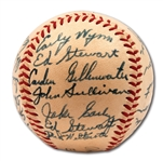 1948 WASHINGTON SENATORS TEAM SIGNED OAL (HARRIDGE) BASEBALL - PSA/DNA 8 AUTO.