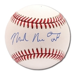 """MICHAEL NELSON TROUT"" (FULL NAME) SINGLE SIGNED OML BASEBALL (MLB AUTH.)"