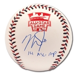"MIKE TROUT SINGLE SIGNED & ""2014 ASG MVP"" INSCRIBED OFFICIAL 2014 ALL-STAR GAME BASEBALL (MLB AUTH.)"