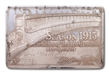SCARCE 1915 NEW YORK GIANTS SEASON PASS TO THE POLO GROUNDS - ISSUED TO JAMES WHITCOMB RILEY (FAMOUS POET)