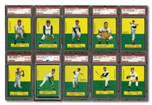 1964 TOPPS STAND-UP NEAR SET (61/77) WITH 43 GRADED (37 PSA AND 6 SGC)