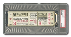 1935 WORLD SERIES (TIGERS AT CUBS) GAME 3 FULL TICKET - PSA EX-MT 6 (NONE HIGHER)