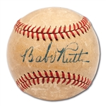 C. 1937 BABE RUTH SINGLE SIGNED OAL (HARRIDGE) BASEBALL