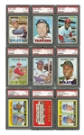 1967 TOPPS BASEBALL COMPLETE SET OF (609) WITH 40 PSA GRADED INCL. #581 SEAVER RC & #150 MANTLE