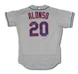 5/17/2019 PETE ALONSO SIGNED & INSCRIBED NEW YORK METS 2-HOMER GAME WORN ROAD JERSEY - NL ROY & ROOKIE RECORD 53-HR SEASON! (MLB AUTH.)
