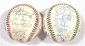 1996 AND 2001 AMERICAN LEAGUE ALL-STAR TEAM SIGNED BASEBALLS