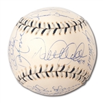 YANKEE GREATS (LE #4/79) MULTI-SIGNED 2008 ALL-STAR GAME BASEBALL INCL. JETER