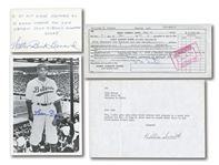 NEGRO LEAGUE LEGENDS AUTOGRAPHED ITEMS INCL. HILTON SMITH, WILLIAM FOSTER, BUCK LEONARD AND LEON DAY