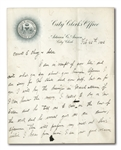 "ADRIAN ""CAP"" ANSON 1906 SIGNED HANDWRITTEN LETTER WITH BASEBALL CONTENT"