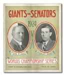 1924 WORLD SERIES (N.Y. GIANTS VS. WASHINGTON SENATORS) POLO GROUNDS PROGRAM