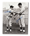 TRIO OF JOE DiMAGGIO SIGNED 16x20 PHOTOS (YANKEES & SEALS) INCL. ONE DUAL-SIGNED WITH BROTHER DOM