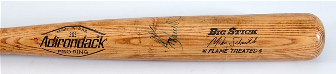1980 MIKE SCHMIDT SIGNED ADIRONDACK PRO MODEL GAME USED BAT FROM WORLD CHAMPIONSHIP SEASON (PSA/DNA GU 9.5)