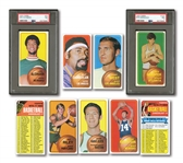 1970-71 TOPPS BASKETBALL COMPLETE SET OF (175) INCL. #75 ALCINDOR & #123 MARAVICH RC (BOTH PSA NM 7)