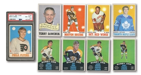1970-71 TOPPS (1-132) HOCKEY / O-PEE-CHEE (133-264) COMPLETE SET WITH BOBBY CLARKE RC PSA NM-MT+ 8.5