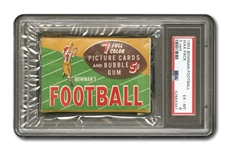 1954 BOWMAN FOOTBALL 5 CENT UNOPENED WAX PACK PSA EX-MT 6