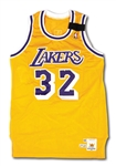 1988-89 MAGIC JOHNSON LOS ANGELES LAKERS GAME WORN HOME JERSEY FROM HIS 2ND MVP SEASON (MEARS)