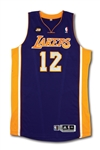 2012-13 DWIGHT HOWARD LOS ANGELES LAKERS GAME WORN ROAD JERSEY
