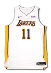 2017-18 BROOK LOPEZ LOS ANGELES LAKERS GAME WORN SUNDAY WHITES JERSEY