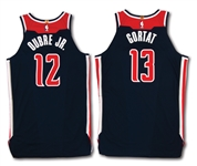 12/25/2017 KELLY OUBRE JR. AND MARCIN GORTAT WASHINGTON WIZARDS CHRISTMAS DAY GAME WORN JERSEYS