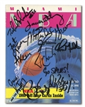 PAIR OF 1990 NBA ALL-STAR GAME AUTOGRAPHED PROGRAMS INCL. MAGIC JOHNSON, WORTHY, STOCKTON, ETC.