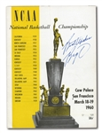 1960 NCAA CHAMPIONSHIP (OHIO STATE VS. CALIFORNIA) GAME PROGRAM SIGNED & INSCRIBED BY OSCAR ROBERTSON - LEADING SCORER OF 60 NCAA TOURNEY