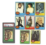 1977 TOPPS STAR WARS COMPLETE SET OF (330) PLUS RARE #207 VARIATION (PSA NM 7)