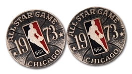 1973 NBA ALL-STAR GAME (CHICAGO) STERLING SILVER CUFFLINKS