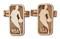 2008 NBA ALL-STAR GAME (NEW ORLEANS) CUFFLINKS MADE OF 14K GOLD & STERLING SILVER
