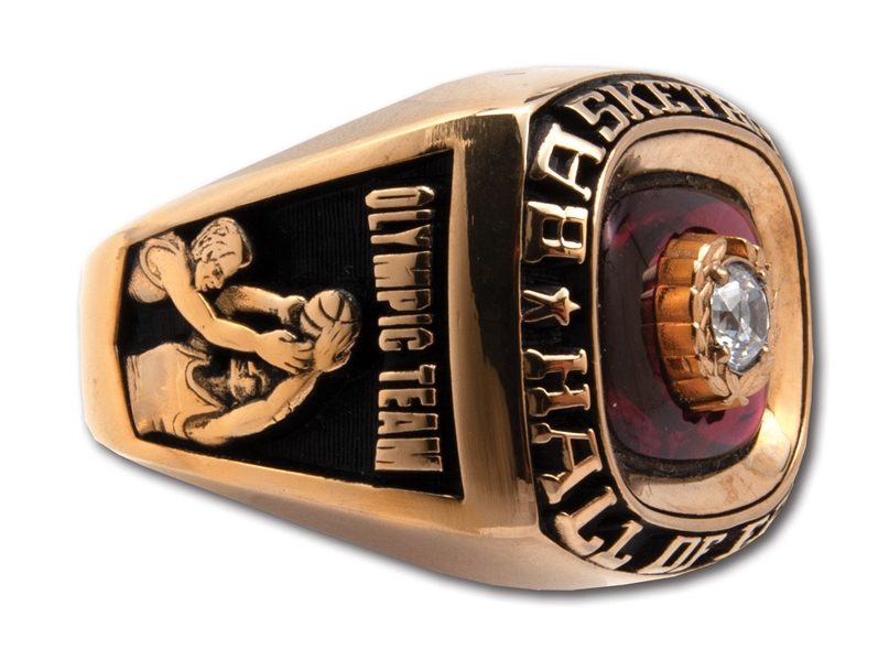 "LENNY WILKENS 2010 NAISMITH HALL OF FAME INDUCTION RING AS MEMBER OF 1992 OLYMPIC ""DREAM TEAM"" - 1ST PLAYER/COACH VERSION OFFERED! (WILKENS LOA)"