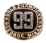 GEORGE MIKANS #99 MINNEAPOLIS LAKERS 5-TIME NBA CHAMPIONS 14K GOLD RING - ONLY ONE EVER ISSUED (MIKAN FAMILY & DAVID STERN LOAS)