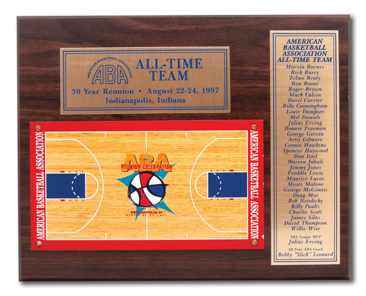 CONNIE HAWKINS 1997 ABA ALL-TIME AWARD PLAQUE (HAWKINS COLLECTION)