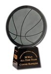 "CONNIE HAWKINS 1997 ABA ""30 MAN ALL-TIME TEAM"" TROPHY (HAWKINS COLLECTION)"