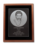 CONNIE HAWKINS 1992 NAISMITH BASKETBALL HALL OF FAME INDUCTION PLAQUE (HAWKINS COLLECTION)