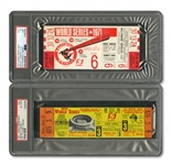 1971 WORLD SERIES (PIRATES/ORIOLES) PAIR OF FULL TICKETS - GAME 3 @ PIT (PSA EX-MT 6) AND GAME 6 @ BAL (PSA VG 3)