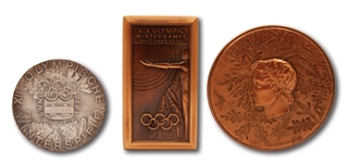 LOT OF (3) WINTER OLYMPICS PARTICIPATION MEDALS: 1968 GRENOBLE, 1976 INNSBRUCK & 2002 SALT LAKE CITY