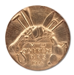 1924 PARIS SUMMER OLYMPIC GAMES 1ST PLACE WINNERS GOLD MEDAL