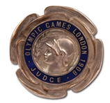 1908 LONDON SUMMER OLYMPIC GAMES JUDGE BADGE