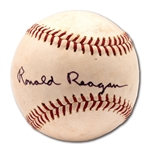 VINTAGE RONALD REAGAN SINGLE SIGNED ONL (GILES) BASEBALL