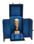 2002 FIFA WORLD CUP WINNERS BERTONI TROPHY AWARDED TO BRAZIL NATIONAL TEAM MEMBER WITH ORIGINAL CASE (BRAZIL MEDIC LOA)