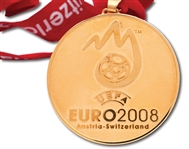 2008 UEFA EURO CUP CHAMPIONS MEDAL ISSUED TO SPAIN NATIONAL TEAM STAFF MEMBER