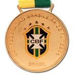 2013 CONFEDERATIONS CUP CBF CHAMPIONS MEDAL ISSUED TO BRAZIL NATIONAL TEAM MEMBER (TECHNICAL COORDINATOR LOA)