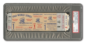 1960 WORLD SERIES (PIRATES VS. YANKEES) GAME 1 FULL TICKET - PSA GD 2