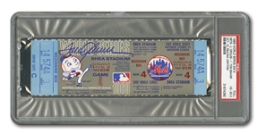 1969 WORLD SERIES (METS VS. ORIOLES) GAME 4 FULL TICKET SIGNED BY WINNING PITCHER TOM SEAVER - PSA VG-EX 4 / PSA/DNA AUTH.