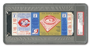 1970 WORLD SERIES (ORIOLES AT REDS) GAME 2 FULL TICKET - PSA GOOD 2