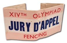 1948 LONDON SUMMER OLYMPIC GAMES FENCING APPEAL JUDGE ARMBAND (RARE)