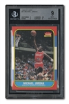 1986-87 FLEER #57 MICHAEL JORDAN ROOKIE - BECKETT MINT 9