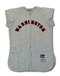 1957 JERRY SNYDER WASHINGTON SENATORS GAME WORN ROAD JERSEY (MEARS A10, EX-MICKEL COLLECTION)
