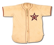 1943-44 CHARLIE ROOT HOLLYWOOD STARS (PCL) PLAYER/MANAGER GAME WORN #17 HOME JERSEY (EX-DOBBINS COLLECTION)